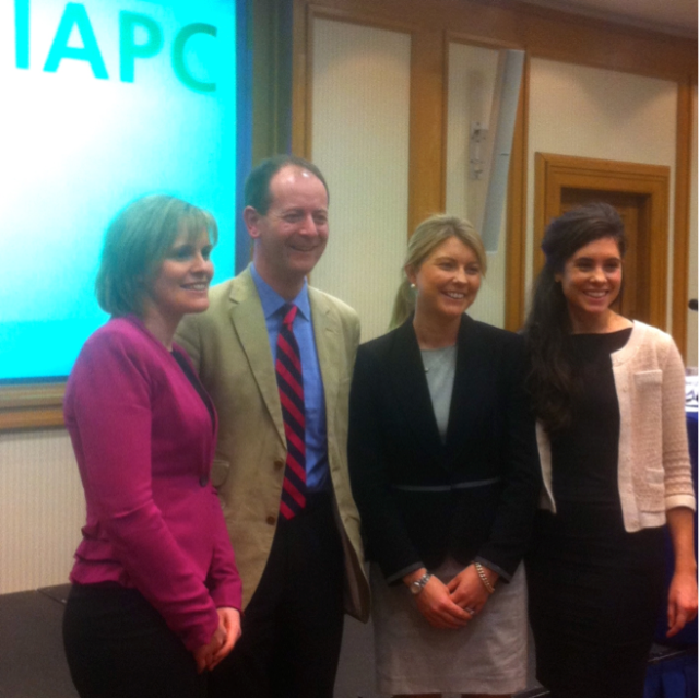 Daniel Nuzum (second form left), pictured with fellow presenters (l-r)  Ms Valerie Jennings, Our Lady's Children's Hospital, Dublin, Dr Mary-Jane O'Leary, Vancouver Coastal Health, Canada, and Dr Aoife Lowney, St Francis Hospice, Dublin.
