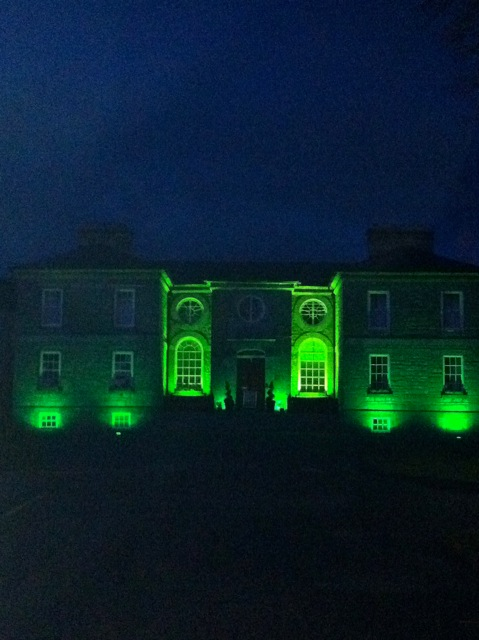 Like many other landmarks and buildings around the world, the historic main building of Midleton College (founded 1696) in the Diocese of Cork, Cloyne and Ross, was decked out in seasonal green from Friday evening 15th March to celebrate Saint Patrick's Day.