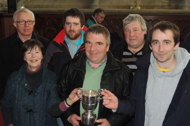 Bellringers from St Mary's Church, Doneraile who won the Cherry Cup, l-r Eddie Gabriel, Julia Lysaght, Roy Deane, David Deane, Mark Buckley & Paul Deane.