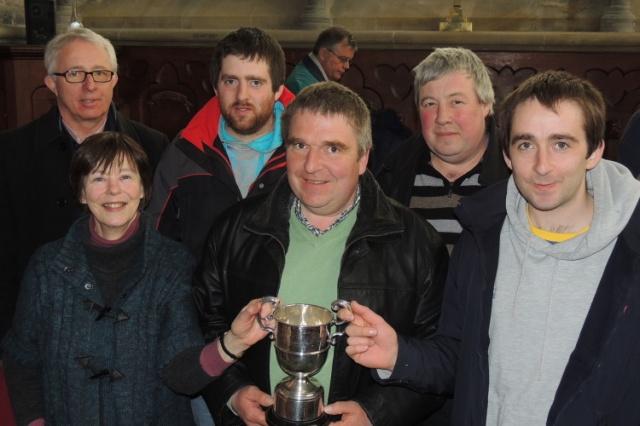 Bellringers from St Mary's Church, Doneraile who won the Cherry Cup, l-r Eddie Gabriel, Julia Lysaght, Roy Deane, David Deane, Mark Buckley & Paul Deane.
