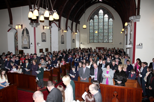 St Luke's Church, Douglas, Cork was full on Sunday 14th April for the first in the Easter season of Confirmations presided over by the Bishop.  Eighteen young people from Douglas, Frankfield, Blackrock and Marmullane (Passage West) were confirmed.