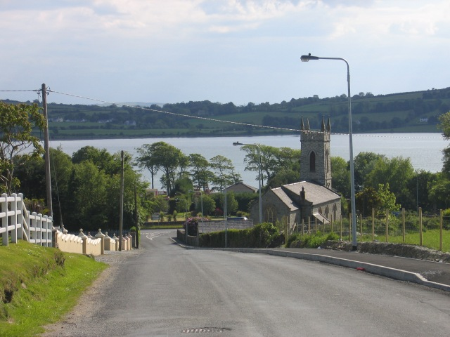 The Church of St Mura, Fahan, Co Donegal photographed from near the gateway of the house Bishop Colton lived in as a child.