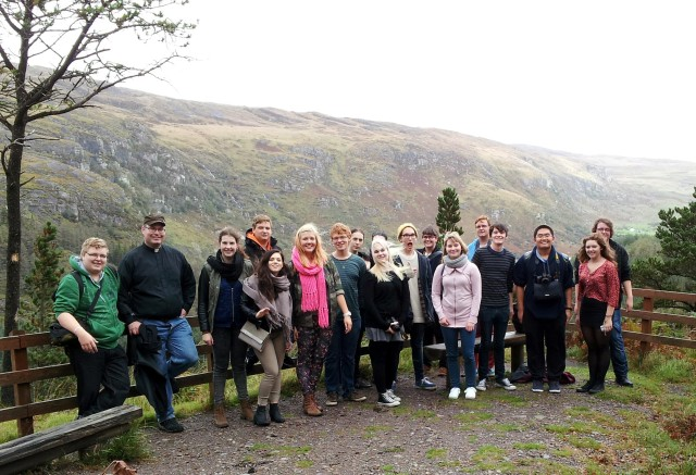 Pastor Tapio Hietalahti visits Gougane Barra with the youth group from Keski-Pori parish in the Diocese of Turku, Church of Finland