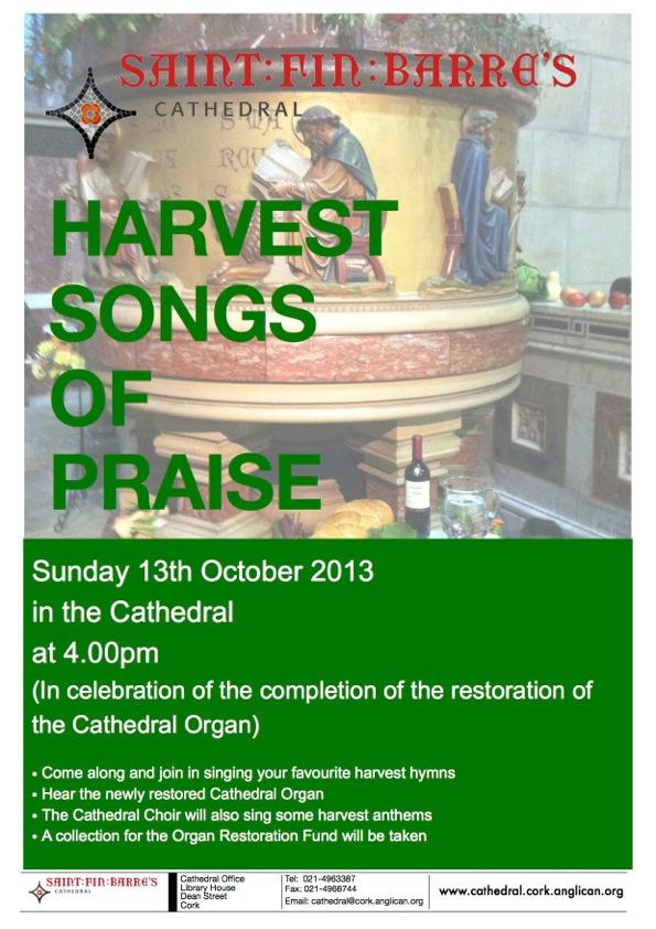 Harvest Songs of Praise 2013 poster