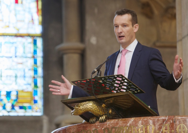 Mark Russell, CEO, Church Army preaches at the Celebration of Lay Ministry in St Fin Barre's Cathedral on Saturday, 19th October