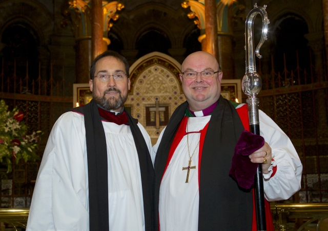 The Reverend Steve McCann, Chaplain to Lay Ministers in Cork, Cloyne and Ross, with the Bishop.