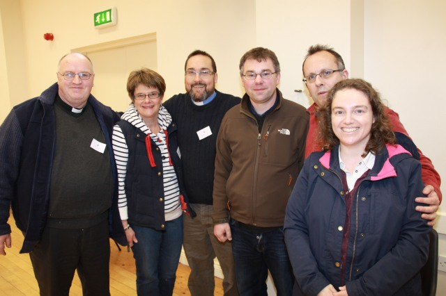 Some of the Helpers at the Bishop's Confirmation Morning 2014:  l-r the Reverend Tony Murphy, Mrs Susan Colton, the Reverend Steve McCann, the Reverend Daniel Owen, the Reverend Brian O'Reilly and Mrs Karen O'Reilly.
