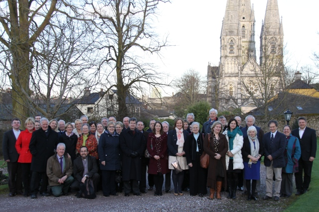 School Principals from Cork, Cloyne and , Chairperson of Boards of Management and guests following the lecture at St Fin Barre's Cathedral, Cork on their way to their meal at the Bishop's Palace.