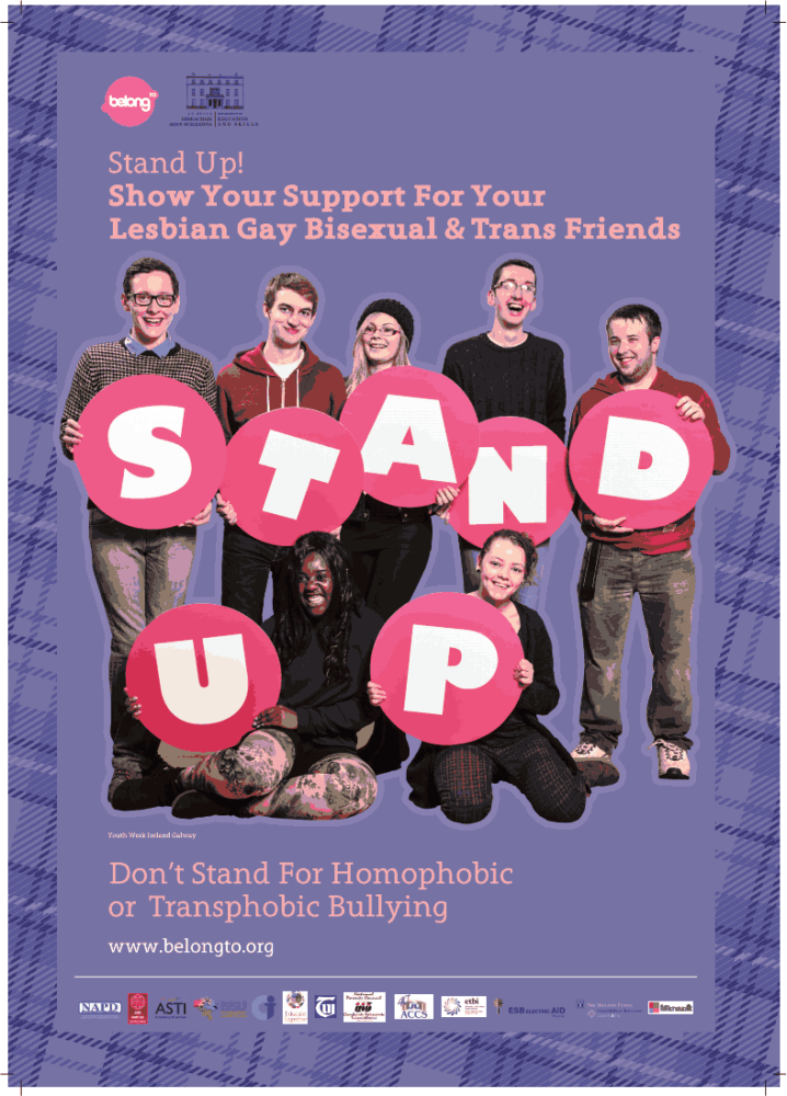 Midleton College - A Church of Ireland School - Supports StandUp! Awareness Week Against Homophobic and Transphobic Bullying