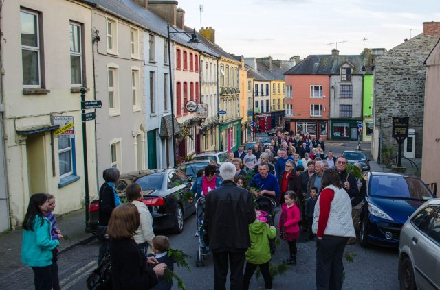 Walking up McCurtain Hill towards Kilgariffe Parish Church (Photo:  Daniel Owen)