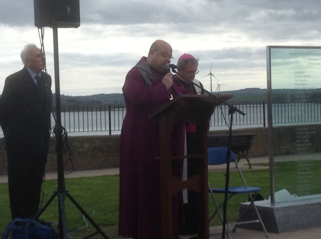 Bishop Colton and Bishop Crean (right) lead the Ecumenical Service prior to the dedication of the Titanic Memorial Garden. (Photo: Brian O'Reilly)