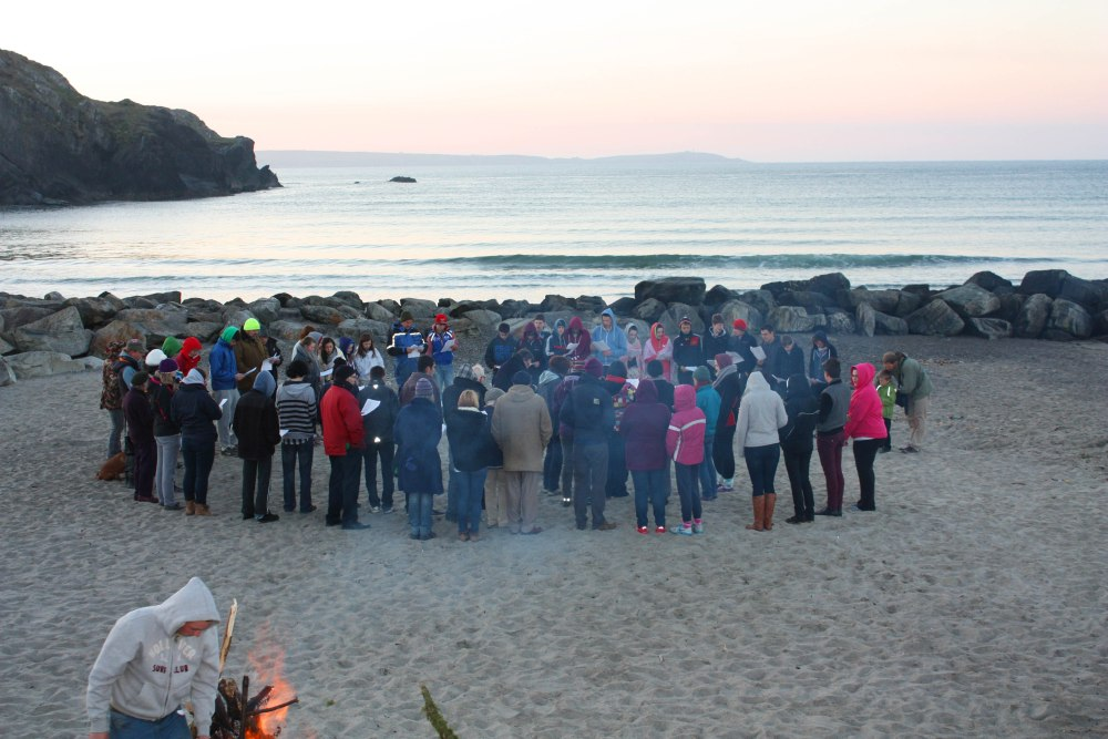 Annual Sunrise Easter Service at the Warren Strand, Rosscarbery (1/5)