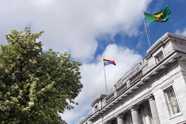 Cork City Hall at the start of Cork LGBT Awareness Week 2014 (Photo: Diane Cusack)