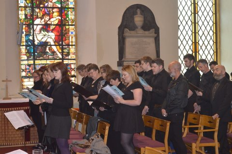 The music at the Service was provided by Choral Con Fusion, Cork's LGBT Choir.