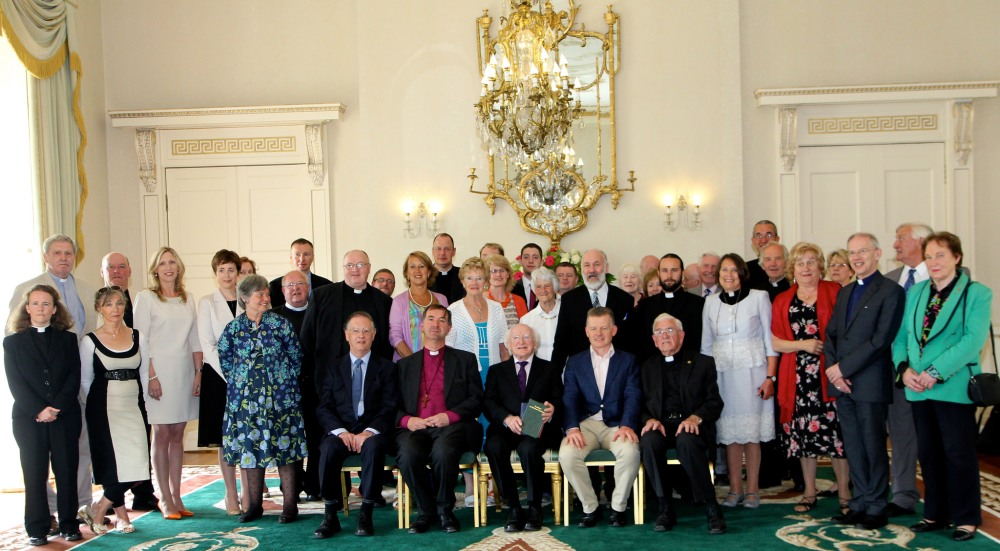Visit of Cumann Gaelach na hEagalise to President Michael D. Higgins