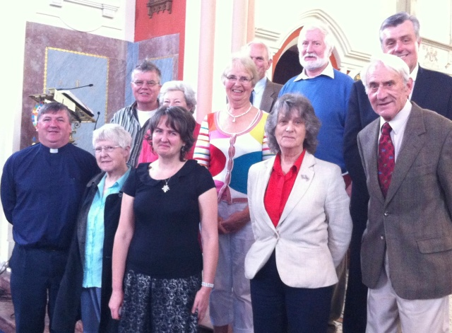 Bandon Organist, Antoinette Baker (third from left front row) with the Rector and Choir of St Peter's Church, Bandon.