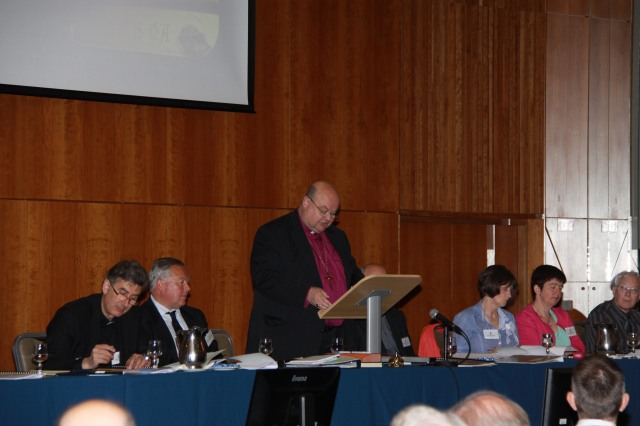 The Bishop of Cork, Cloyne and Ross, the Right Reverend Dr Paul Colton delivering his presidential address to Diocesan Synod in the Rochestown Park Hotel on Saturday, 7th June, 2014