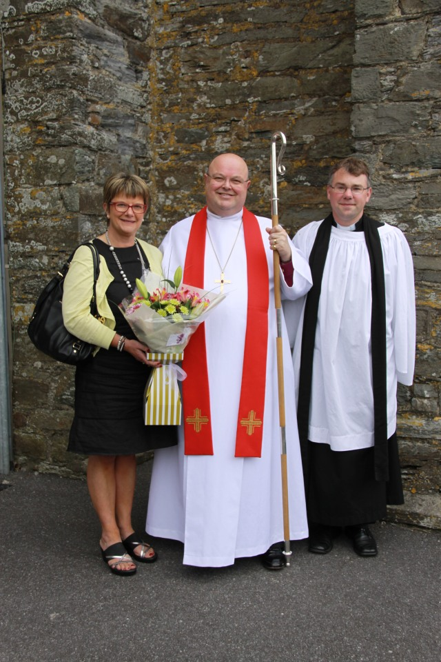 Mrs Susan Colton, Bishop Colton and the Reverend Daniel Owen.