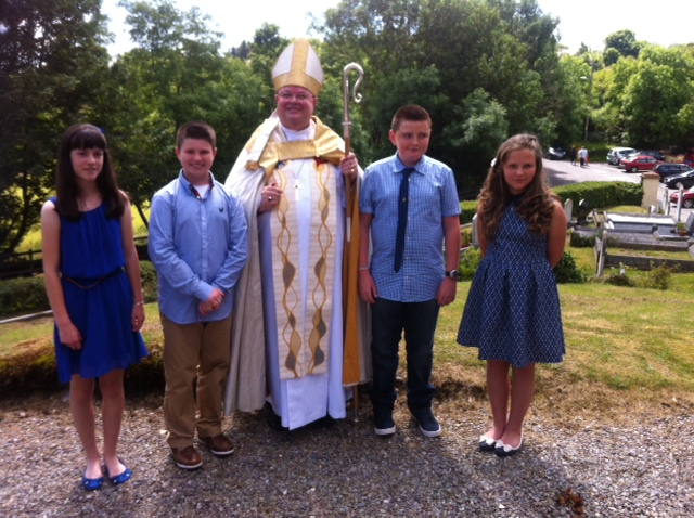 Young people from Ballydehob Union of Parishes on the Mizen Peninsula in West Cork who were confirmed by the Bishop.