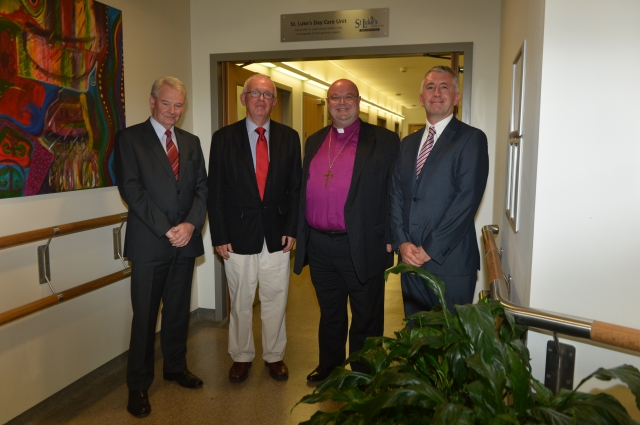 Visiting the St Luke's Day Care Unit at Marymount University Hospital and Hospice recently were (l-r):  David O'Brien (CEO, St Luke's), Professor Cillian Twomey (Chairman of the Board, Marymount), Dr Paul Colton (Chairman of the Board, St Luke's) and Dan Philpott (CEO, Marymount)