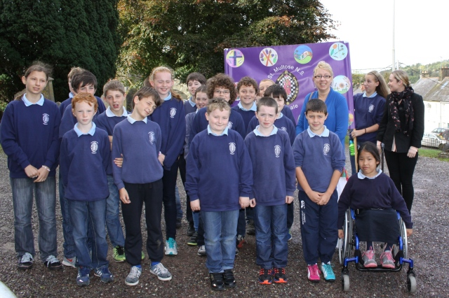 On the way to the Diocesan Service for Primary Schools - a group from St Multose National School, Kinsale.