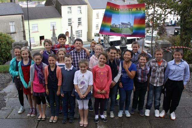 Pupils and teachers from Ballymoney National School