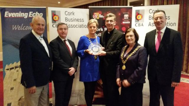 Presentation to Dean Nigel Dunne of the 2014 Better Buildings Award