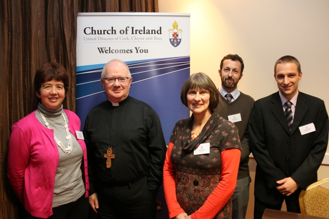 The Archbishop of Armagh (second from left) at the inauguration of 'Charting A Future with Confidence' with l-r Linda Deane, Ann Buttimer, Edward Gash and Melvin Beamish.