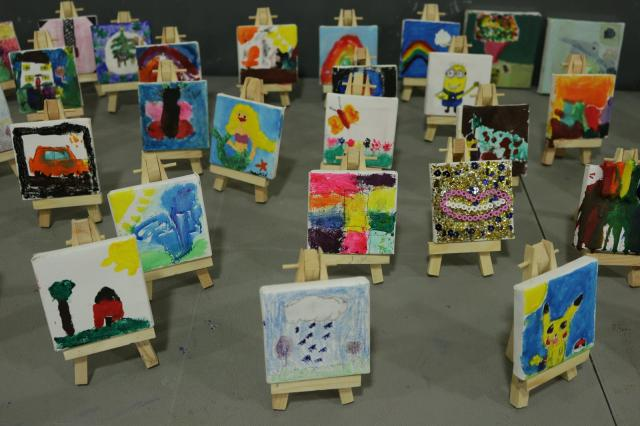 Mini-Masterpieces by the children of the Parish.