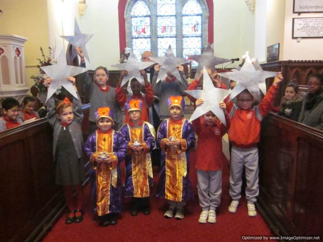Stars were distributed to each class group from St Luke's National School in Saint Luke's Church, Douglas, Cork