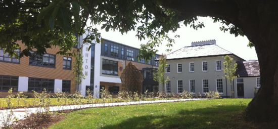 The new Ashton School building (left) with the restored Cork Grammar School (right) integral to the new school campus.