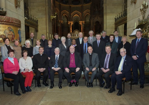 Members of the Diocesan Council of Cork, Cloyne and Ross with the Bishop (centre) and Wilfred Baker (fourth from left in front row).