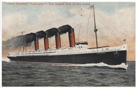 Postcard - RMS Lusitania