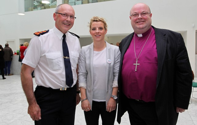 At the launch of Cork LGBT Awareness Week 2015 were (l-r)  Chief Superintendent Mick Finn, Valerie Mulcahy, and Bishop Paul Colton
