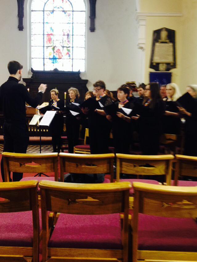 Cork's Inclusive LGBT Choir - Choral Con Fusion - sing at St Anne's Church, Shandon, Cork