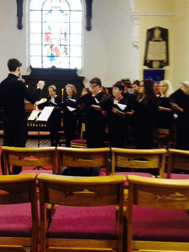 Cork's Inclusive LGBT Choir - Choral Con Fusion - sing at St Anne's Church, Shandon, Cork