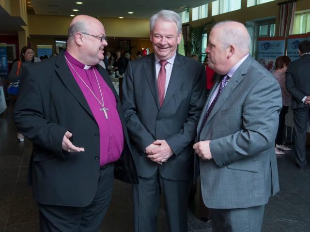 AT the St Luke's Home Education Centre, Cork annual conference 2015 were (l-r) Dr Paul Colton (Chairman, Board of Directors, St Luke's Home), David O'Brien (CEO of St Luke's Home), Tadgh Daly (CEO of Nursing Homes Ireland)