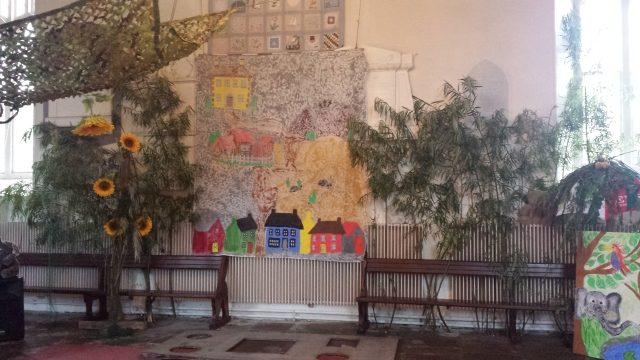 The narthex of St Fachtna's Cathedral, Ross is transformed for 'Jungle Jamboree'