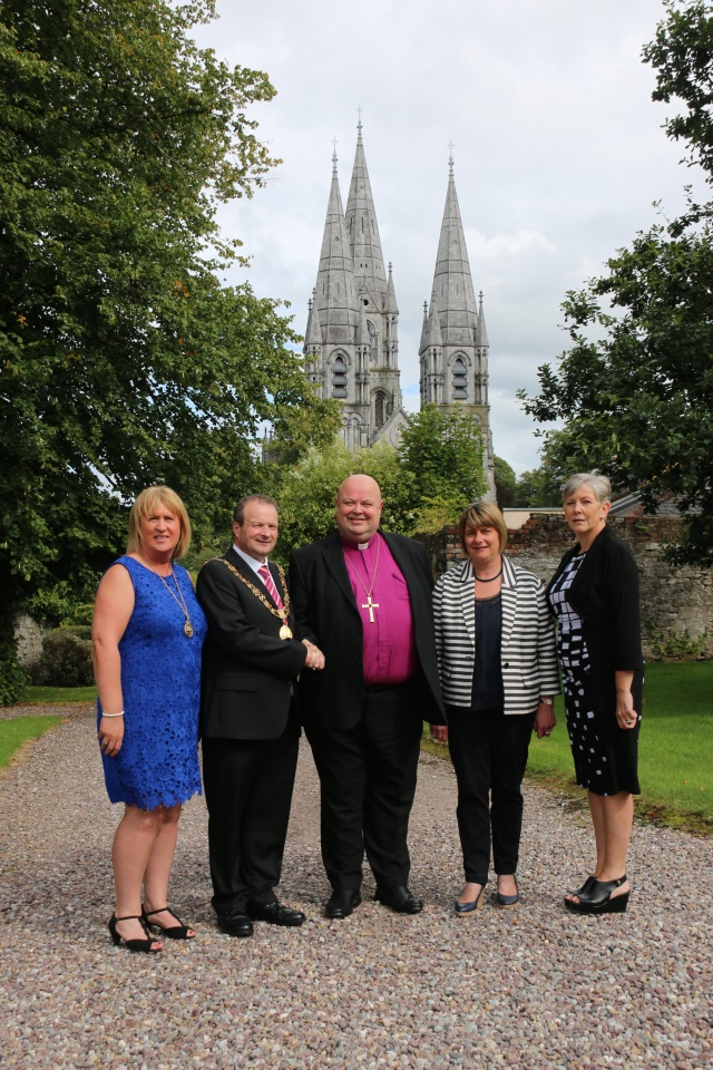At the annual courtesy visit of the Lord Mayor of Cork to the Bishop's Palace were (l-r) The Lady Mayoress, Angela O'Leary, the Lord Mayor, Councillor Chris O'Leary, the Bishop of Cork, Mrs Susan Colton, and Ann Doherty, CEO of Cork City Council