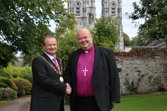 Councillor Chris O'Leary, Lord Mayor of Cork and Dr Paul Colton, Bishop of Cork