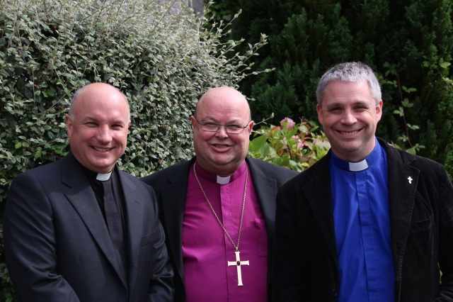 The Reverend David Bowles (right), a Deacon, who was licensed by the Bishop of Cork, Dr Paul Colton, to serve as curate-assistant of Douglas Union, with Frankfield, where the rector is the Archdeacon of Cork, the Venerable Adrian Wilkinson (left).