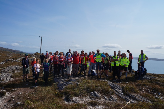 Some of the group of more than 200 walkers on the 2015 Christian Aid Sheep's Head HIke in County Cork.