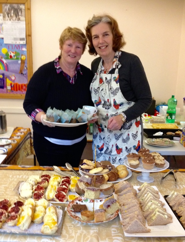 Mary Murphy (left) and Hazel Fleury of the Monday Club, hosted an afternoon tea which raised €1,200 for the Bishops' Appeal