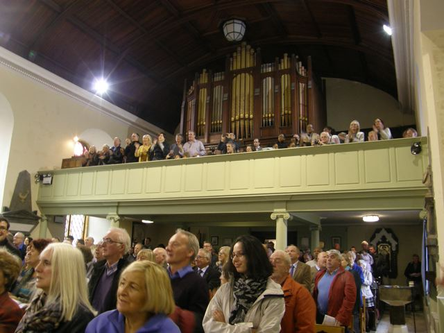 Saint Anne's Church, Shandon, Cork full to capacity for the annual Jazz Festival Service.