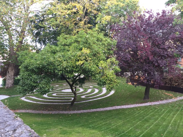 The new Cathedral Labyrinth in the grounds of Saint Fin Barre's Cathedral, Cork.