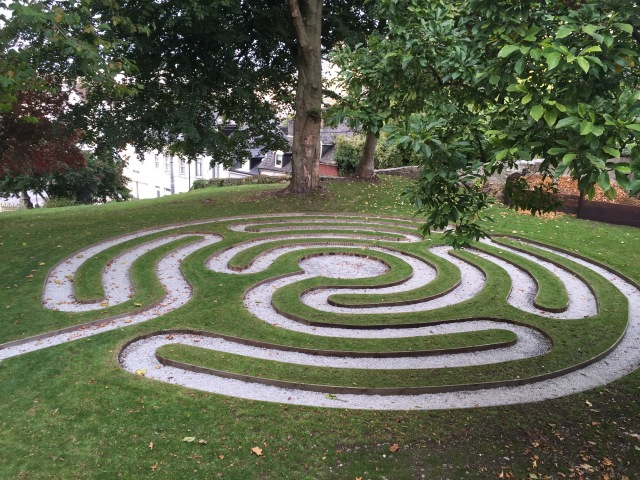 The new Labyrinth at Saint Fin Barre's Cathedral, Cork.