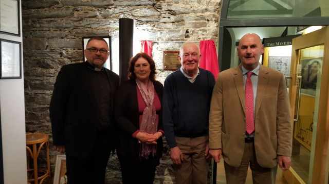 Canon Paul Willoughby and Tommy Hodges pictured with Chrissie O'Sullivan and Tadhg O'Sullivan, members of the Allihies Parish Co-Operative.