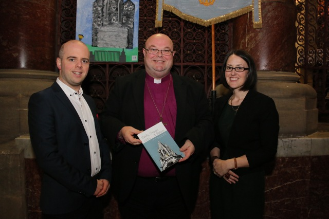 At the launch in St Fin Barre's Cathedral, Cork by Dr Paul Colton of 'Wells, Graves and Statues' were co-authors Dr Richard Scriven and Dr Louise Nugent.
