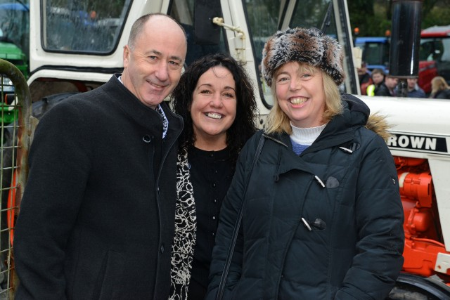 NEWS 24/1/2016 Pictured at the tractor run at Bandon Co Cork was Alan Coleman MCC and Margerat Murphy O'Mahony MCC with new Election Candidate for West Cork Gillian Powell. Picture Denis Boyle