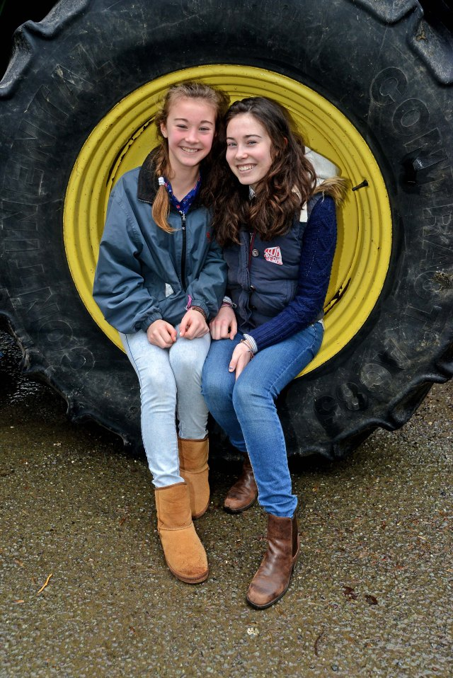 Pictured at the tractor run at Bandon Co Cork were Grace and Lucey Rowe from Bandon. Picture Denis Boyle